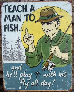 Funny Metal Fly Fishing Sign Retro Wall Garage Bar Decor Plaque ...