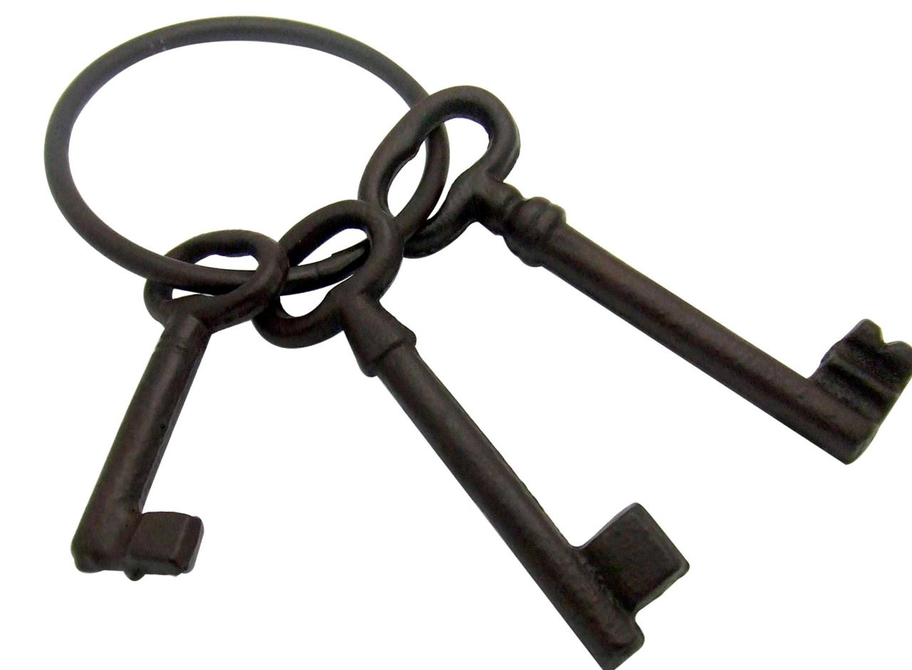 Antique jail cell keys
