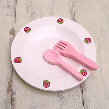 MOTHER-GARDEN-Wooden-Dish-Spoon-Fork-NEW-26324978