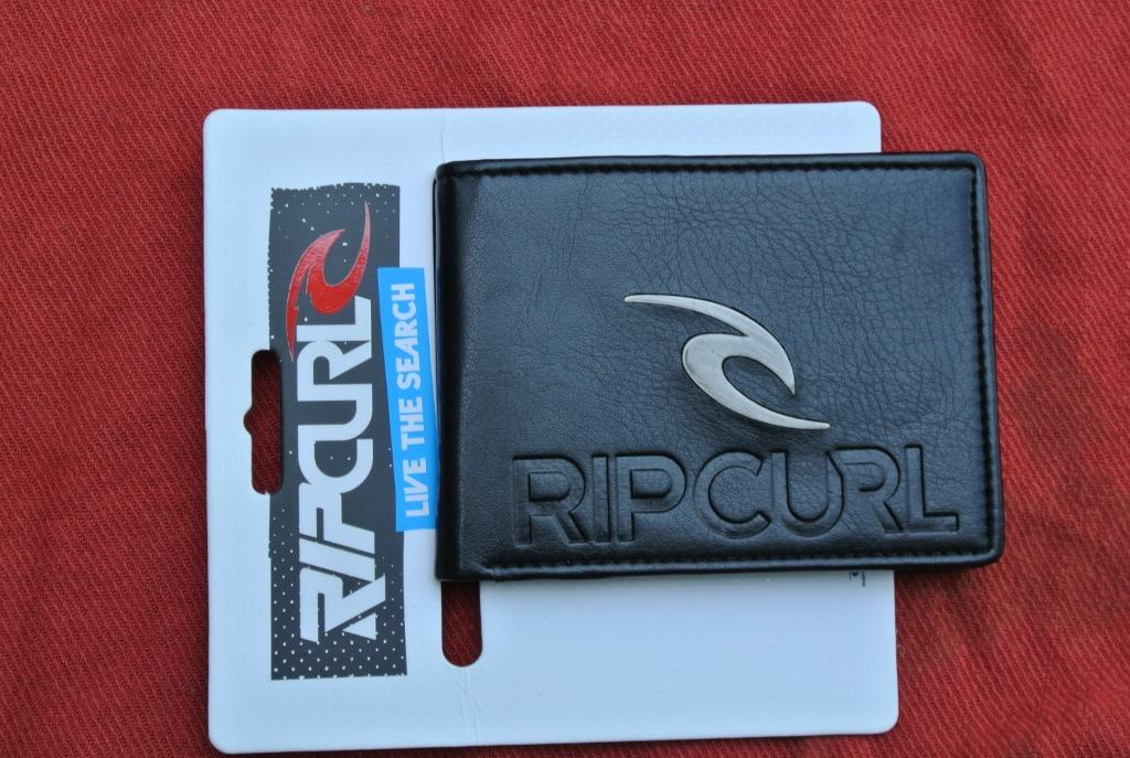 RIPCURL-Surf-Mens-Black-LEATHER-LOOK-Wallet-Multi-Card-Pocket-Bi-Fold-New