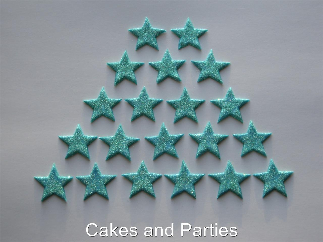 Edible Cake Decorations Stars : 20xEDIBLE GLITTER STARS. CAKE DECORATIONS - VARIOUS ...