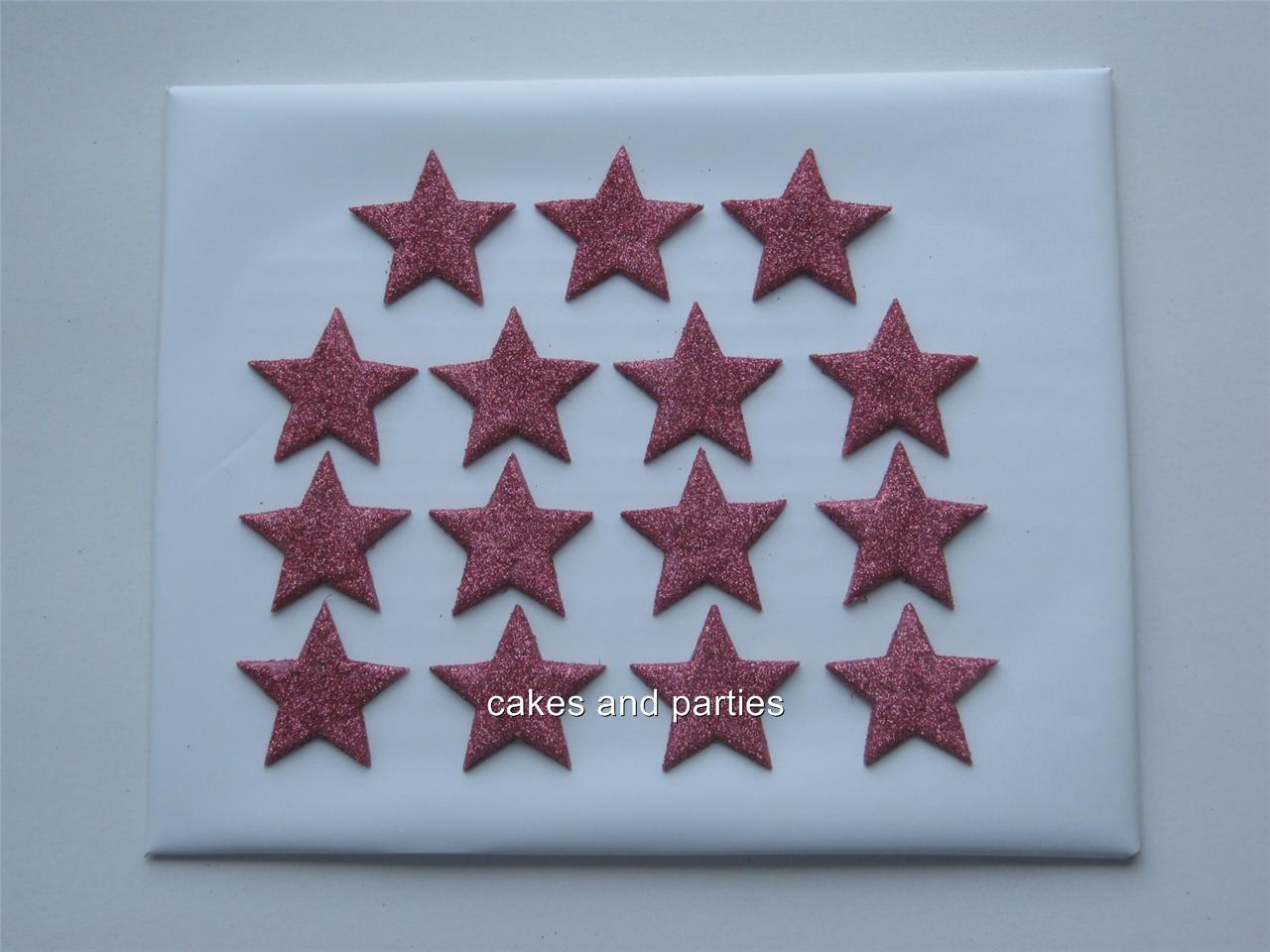15xEDIBLE GLITTER STARS. CAKE DECORATIONS - VARIOUS ...