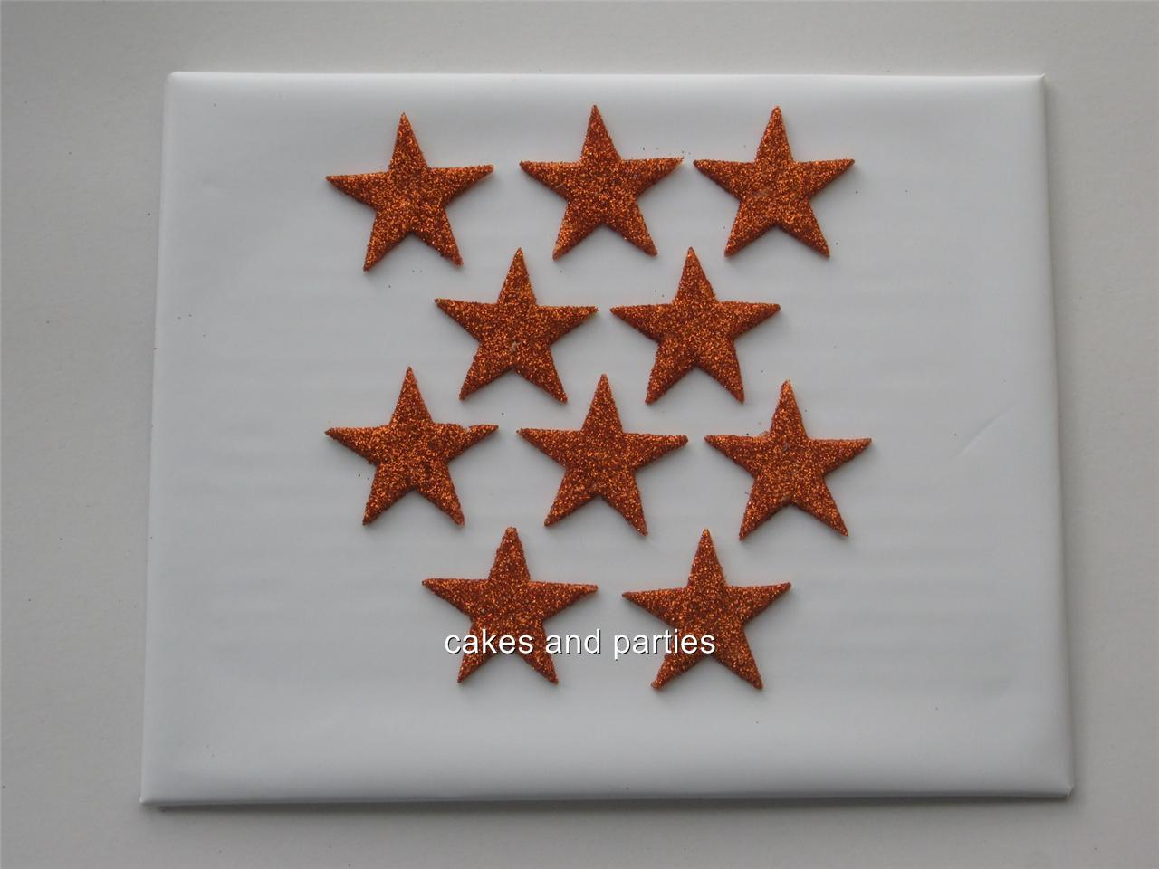 Edible Cake Decorations Stars : 10xEdible Glitter Stars Cake Decorations Various Colours ...