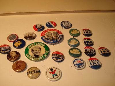 27 Campaign Buttons Pin Backs I Like Ike Roosevelt