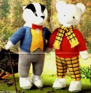 Free Pattern For Knitted Leg Warmers : ALAN DART ~ RUPERT THE BEAR & BILL BADGER TOY DOLL Knitting Pattern eBay