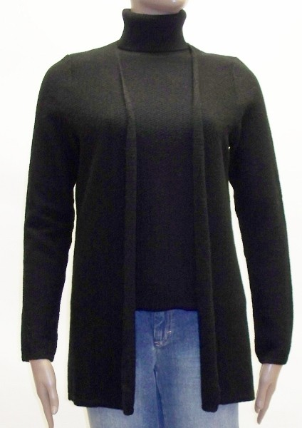 Women's 100% Cashmere Long Cardigan