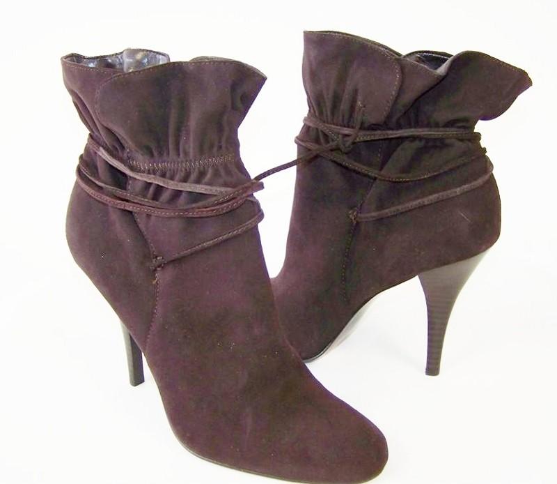 calvin klein womens ankle boots brown suede 5 5 ebay