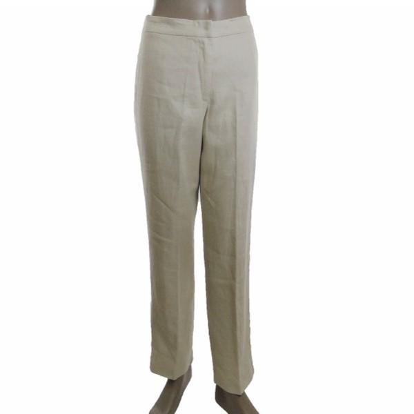 New PURO LINO Beige Drawstring Linen Pants  Zulily