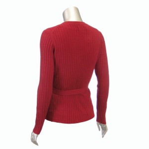 Sutton Studio Womens Cashmere Large Ribbed Cardigan