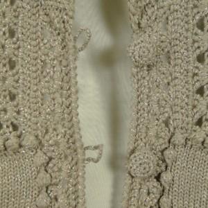 Sutton Studio Womens Metallic Crochet Cardigan Topper
