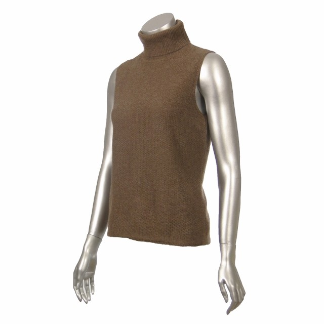 Sutton Studio Womens Cashmere Turtleneck Tank Shell