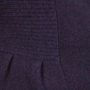 Sutton Studio Women Purple Cashmere No Close Cardigan L