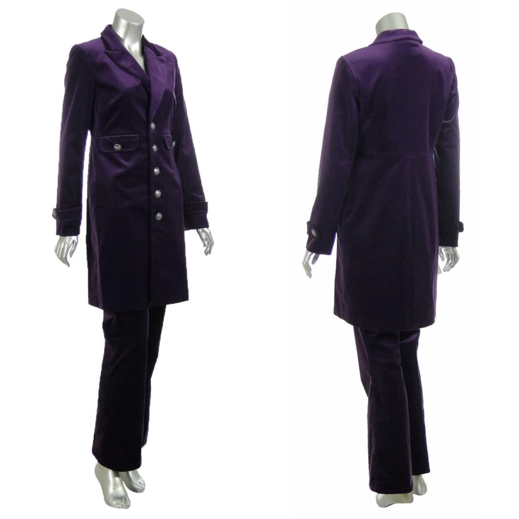 Sutton-Studio-Womens-Velvet-Jean-Military-Jacket-Suit