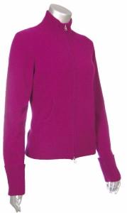 Sutton Studio Womens 100% Cashmere Sweater Cardigan Zipper Front