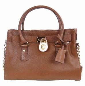 Michael Michael Kors Hamilton Leather East West Satchel Handbag Purse