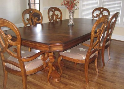 thomasville furniture rivage dining room set table 6 chairs china