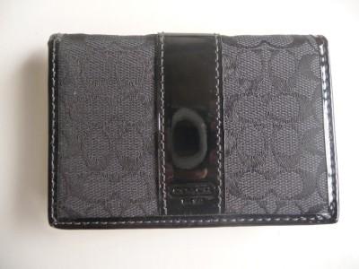 Nwt coach signature business card case id holder wallet for Business card holder coach