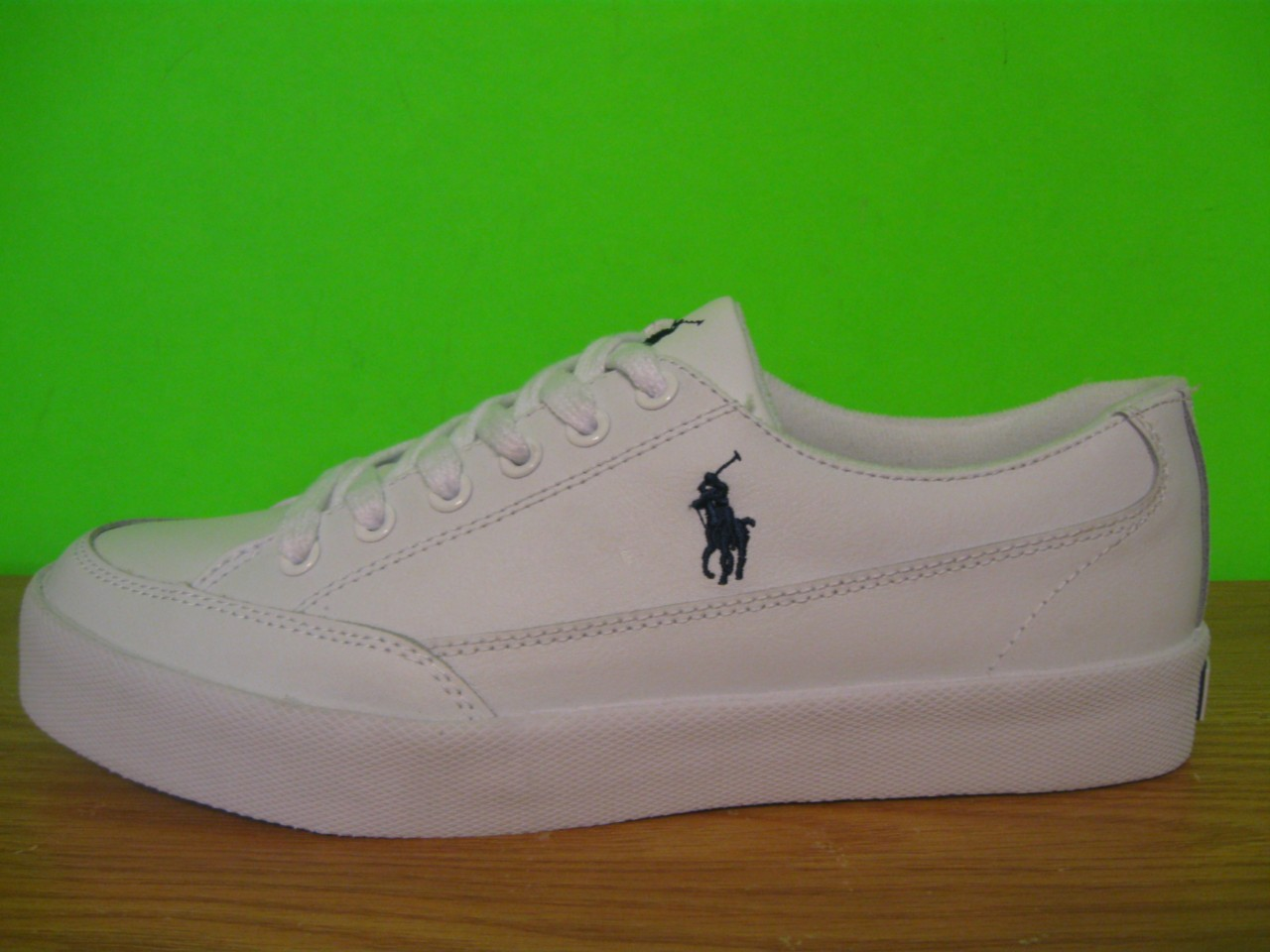 new polo ralph white leather trainers sneakers tennis shoes mens 8 10 5 ebay