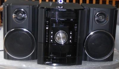 Sharp 250w 5 Disc Cd Ipod Compact Shelf Stereo 2 Way