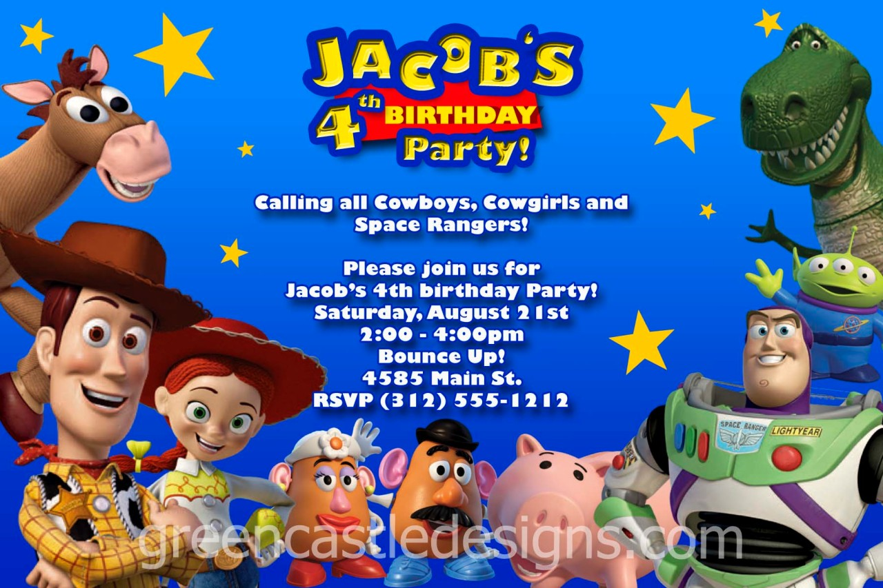 Toy Story Invitation 20 Custom Photo Birthday Party Invites Buzz – Buzz Lightyear Birthday Card