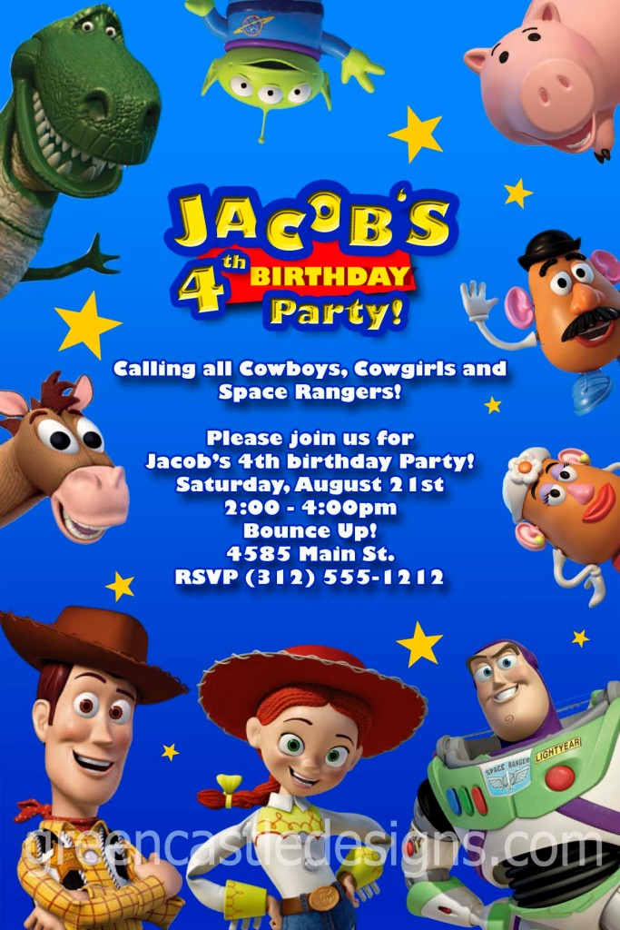 toy story  custom photo birthday party invitation buzz  ebay, Party invitations