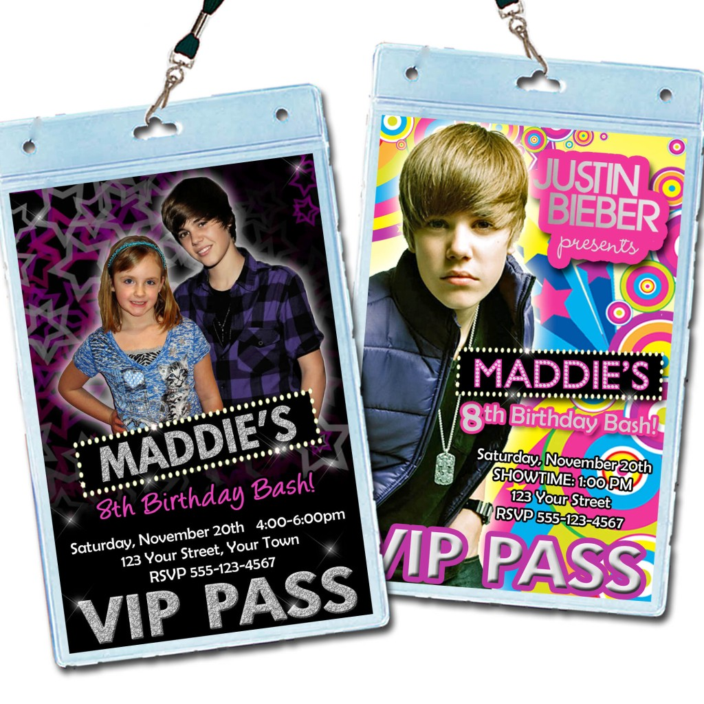 how to make vip passes for a birthday party