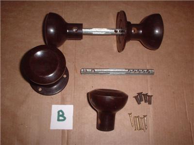 2 pr art deco 1930s bakelite door knobs rim lock fit ref for 1930 door locks