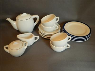 Ikea duktig 1990 39 s childrens china kitchenware tea service set inc teapot ebay - Duktig tea set ...