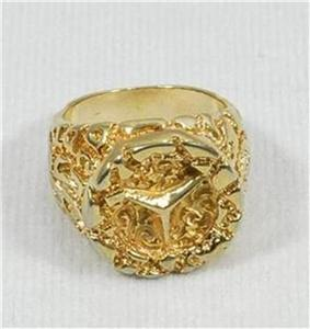mens gold nugget rings for sale