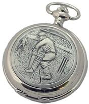 CRICKET-CRICKETER-PEWTER-FULL-HUNTER-POCKET-WATCH-INCLUDING-YOUR-ENGRAVING-NEW