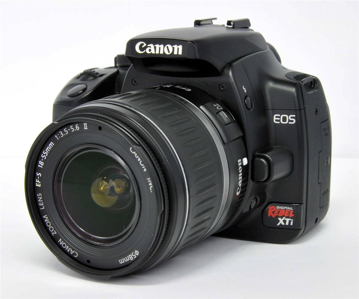 canon eos rebel xti: