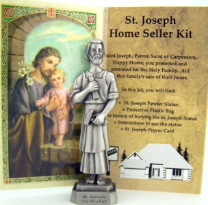 3 1 2 Pewter St Joseph Statue Home Seller Selling Kit Set
