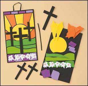Easter mosiac cross scene sunday school celebrate our lord for Is there any shops open on easter sunday