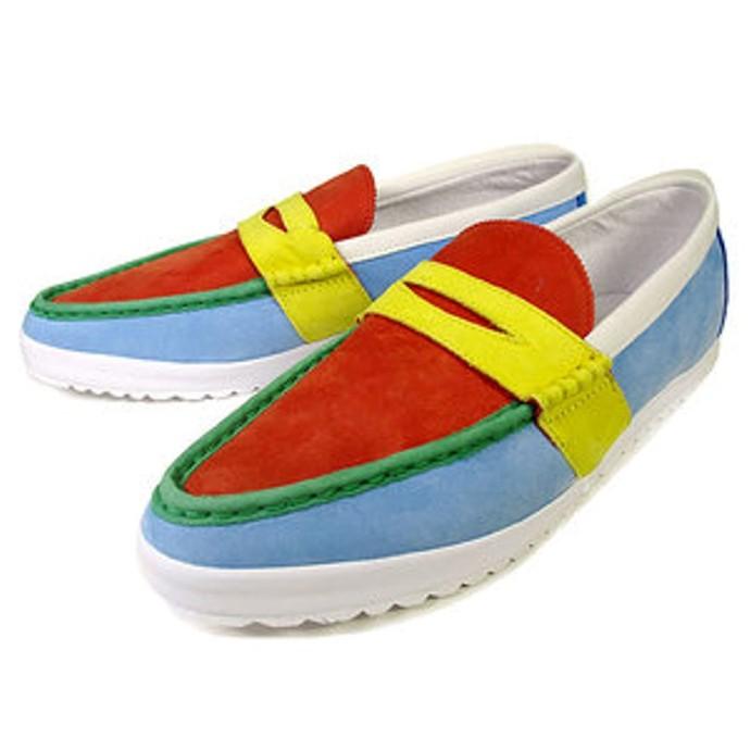 ObyO Original Adidas Jeremy Scott Multi Color Penny Loafer SLM Mens Fashion Shoe   EBay
