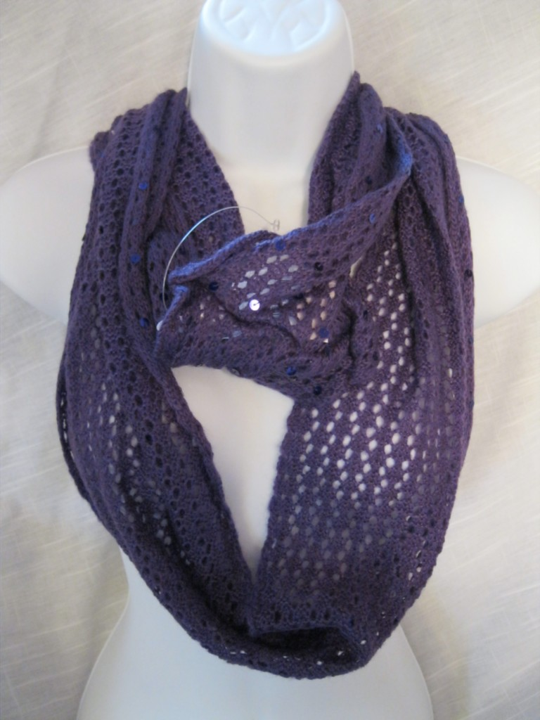 sequined infinity scarf wear 3 ways choose color ebay