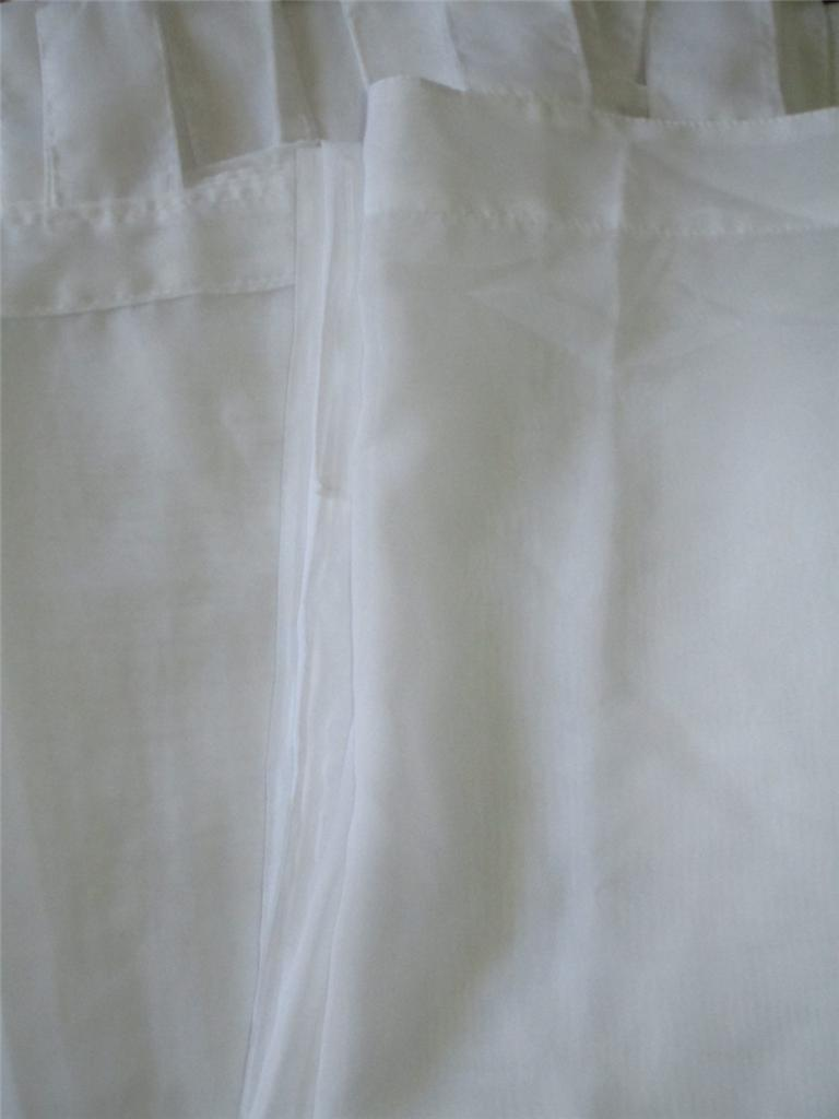 Tab Top Sheer Curtain Panels 60 X 63 Manycolors White Green Rose Berry Blue Blk Ebay
