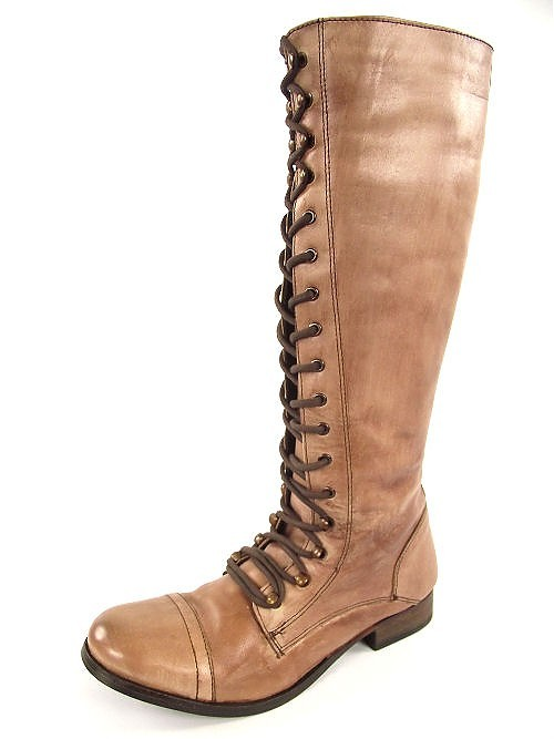river island knee high leather boots light brown