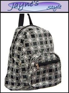 Black Circle Travel Tote Backpack School Messenger Bag