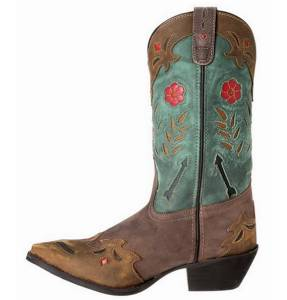 new laredo boots s miss kate 11 quot brown n teal