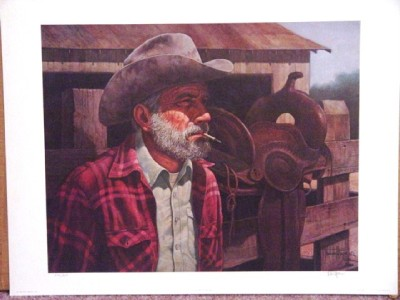 old timer western lithograph norberto reyes sn ebay