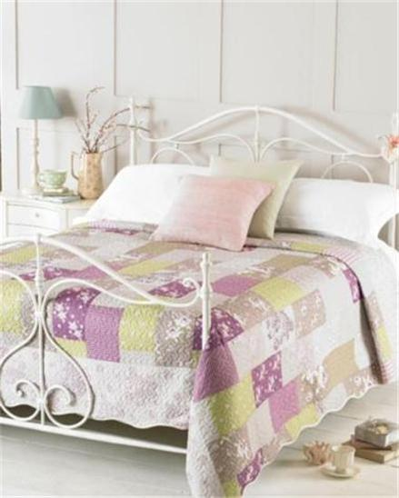Shabby Chic Style Embroidered Bedspreads Throws Double