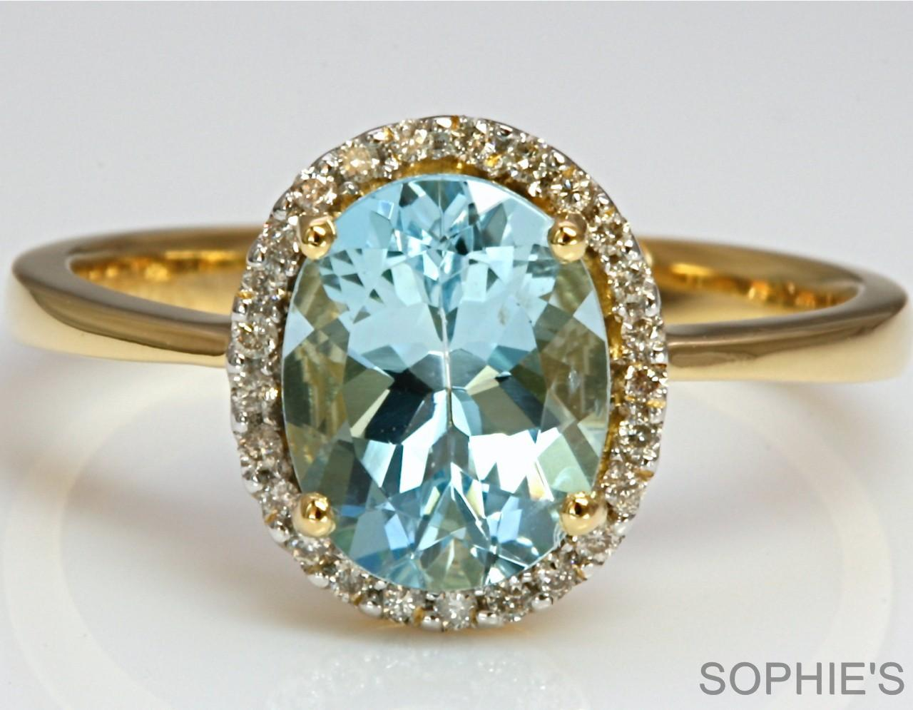 aquamarine engagement ring in