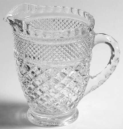 Wexford Anchor Hocking Crystal Glass Pint Pitcher
