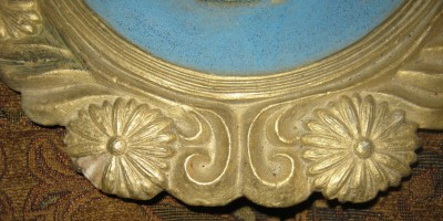 Antique Oval Applied Cherub Angel Wall Plaques Mexic