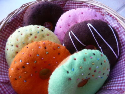 Pretend Play Felt Food Patterns   Delicious Donuts