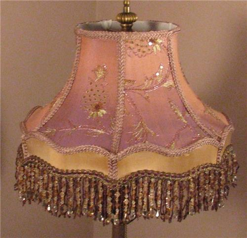 victorian lamp shade loverly lavender free shipping ebay. Black Bedroom Furniture Sets. Home Design Ideas