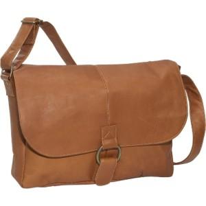David King & Co. East/West 1/2 Flap Messenger Tan - Messenger Bags.