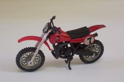 Honda CX250R Dirt Bike Ridge Riders Zee Toys 1 24 Motorcycle Loose