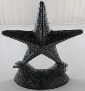 Iron starfish doorstop star fish door stop wedge doorstops for Fish door stop