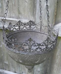 Fancy hanging basket flower planter plant garden pot for Fancy flower pots
